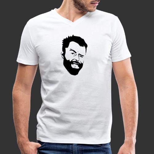 Baerenlust meets den echten Kerl mit Vollbart - Männer Bio-T-Shirt mit V-Ausschnitt von Stanley & Stella