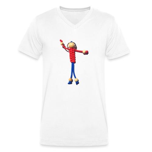 Knotenmann - Männer Bio-T-Shirt mit V-Ausschnitt von Stanley & Stella
