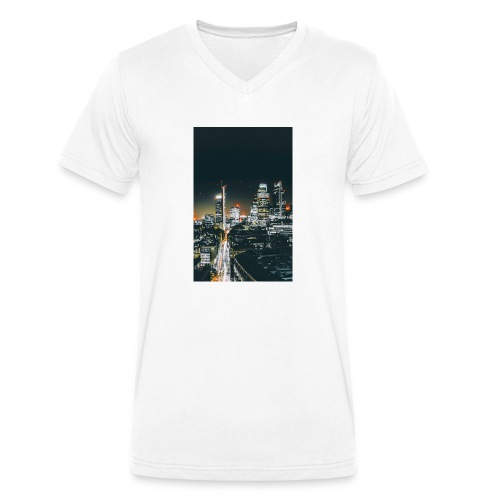 London night light - Men's Organic V-Neck T-Shirt by Stanley & Stella