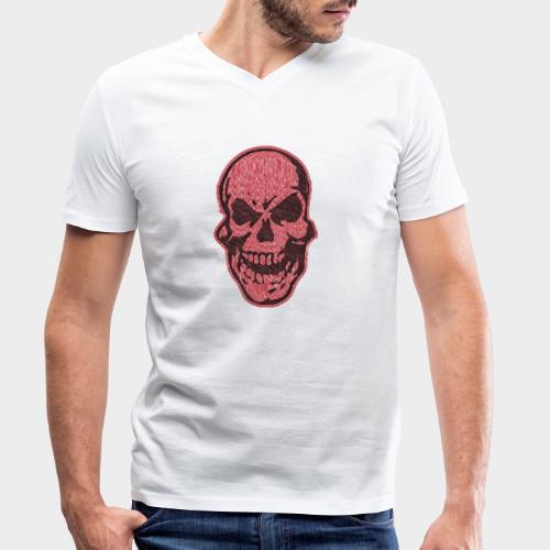 CALAVERA garabato - Camiseta ecológica hombre con cuello de pico de Stanley & Stella