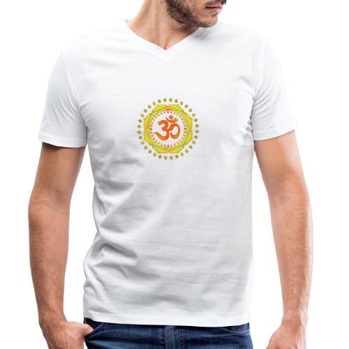 OM SYMBOL OM orange-yellow-green - Männer Bio-T-Shirt mit V-Ausschnitt von Stanley & Stella