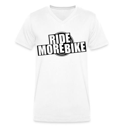 RIDE MORE BIKE Bio-Hoodie - Männer Bio-T-Shirt mit V-Ausschnitt von Stanley & Stella