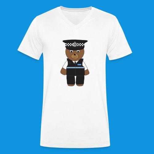 PC Bear - Men's Organic V-Neck T-Shirt by Stanley & Stella