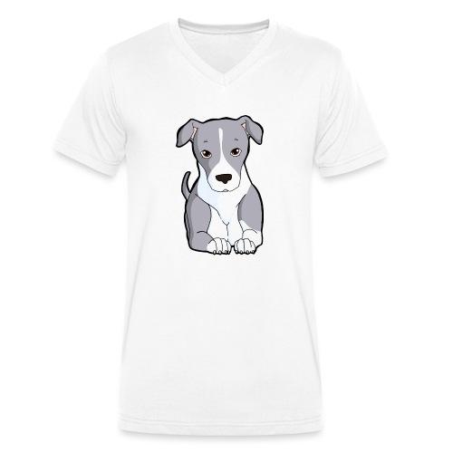 American Staffordshire/Pit bull Pezzato Blu - T-shirt ecologica da uomo con scollo a V di Stanley & Stella