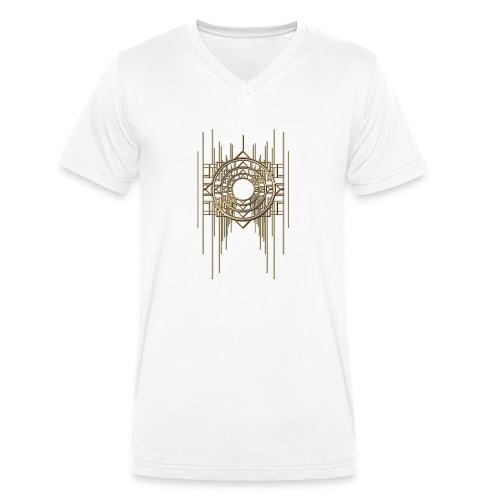Abstract Geometry Gold Metal Art Deco Vintage - Men's Organic V-Neck T-Shirt by Stanley & Stella