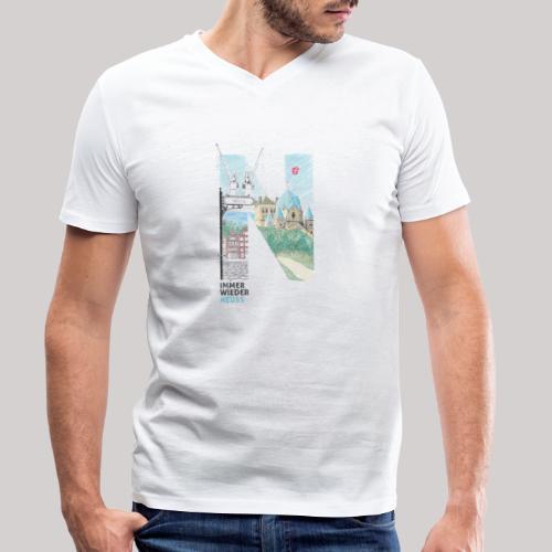 Immer wieder Neuss - Männer Bio-T-Shirt mit V-Ausschnitt von Stanley & Stella
