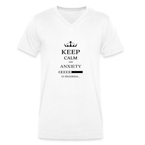 keep_calm - T-shirt ecologica da uomo con scollo a V di Stanley & Stella