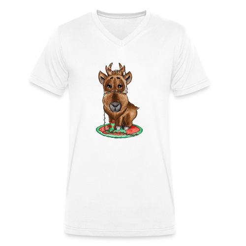 Reindeer refined scribblesirii - Økologisk Stanley & Stella T-shirt med V-udskæring til herrer