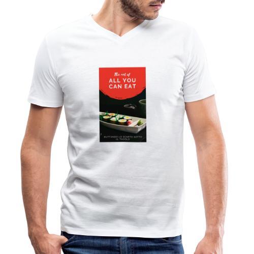 all you can - T-shirt ecologica da uomo con scollo a V di Stanley & Stella