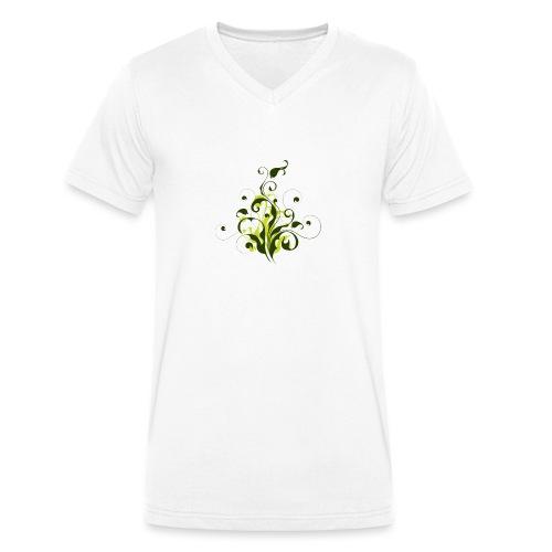 Flora - Camiseta ecológica hombre con cuello de pico de Stanley & Stella