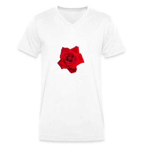 Red Roses - Ekologiczna koszulka męska z dekoltem w serek Stanley & Stella