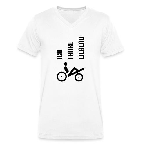 ich_fahre_liegend_einspurer Kopie.eps - Männer Bio-T-Shirt mit V-Ausschnitt von Stanley & Stella