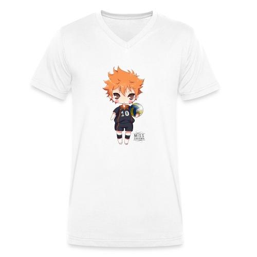 Haikyuu! shopper - T-shirt ecologica da uomo con scollo a V di Stanley & Stella