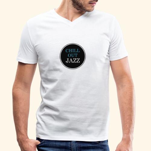 chill out jazz - Männer Bio-T-Shirt mit V-Ausschnitt von Stanley & Stella