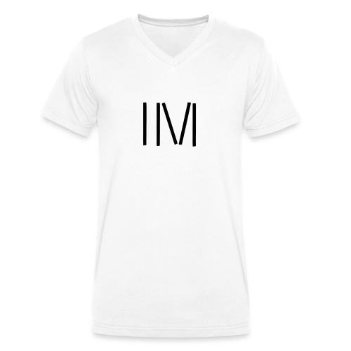 IM LOGO SCHWARZ - Männer Bio-T-Shirt mit V-Ausschnitt von Stanley & Stella