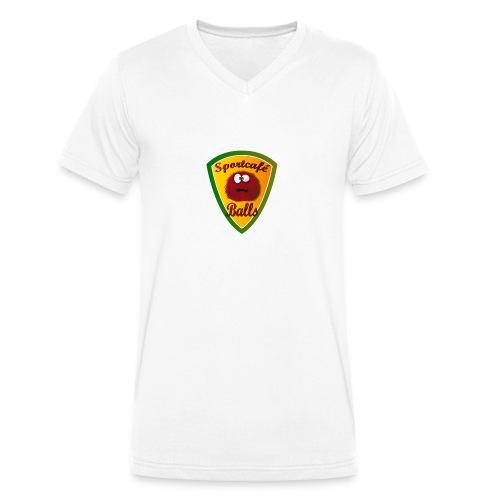 Logo Sportcafé Balls - Mannen bio T-shirt met V-hals van Stanley & Stella