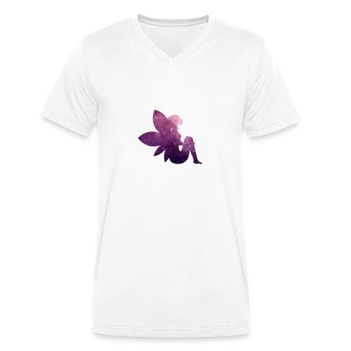 Purple fairy - Økologisk T-skjorte med V-hals for menn fra Stanley & Stella