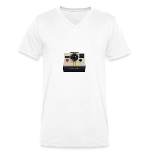 polaroid - T-shirt bio col V Stanley & Stella Homme