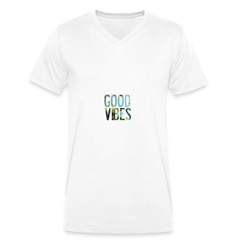 Good Vibes - Men's Organic V-Neck T-Shirt by Stanley & Stella