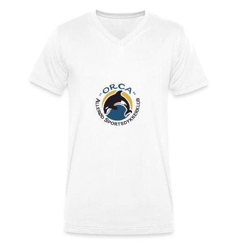 Lille Logo - Økologisk Stanley & Stella T-shirt med V-udskæring til herrer