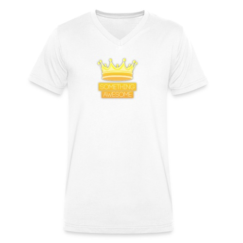 Golden logo - Men's Organic V-Neck T-Shirt by Stanley & Stella