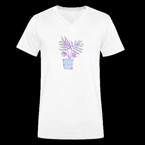Kleine Palme - Männer Bio-T-Shirt mit V-Ausschnitt von Stanley & Stella
