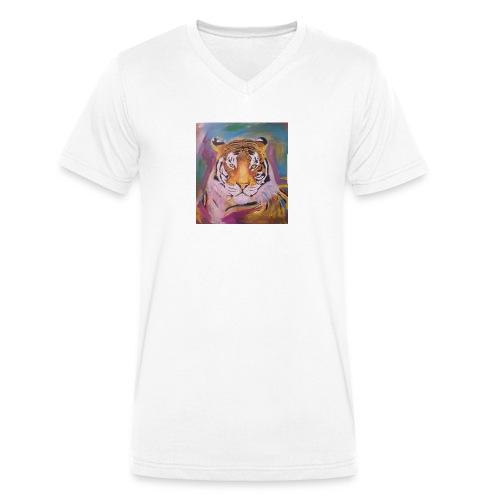 The Tiger Of Diffrent Shades - Ekologisk T-shirt med V-ringning herr från Stanley & Stella