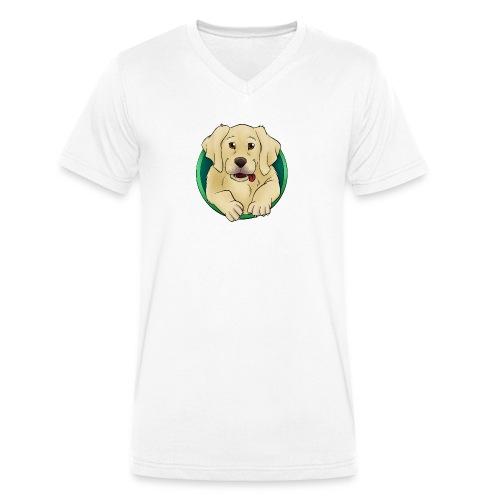 Hunde Portrait - Labrador Welpe - Männer Bio-T-Shirt mit V-Ausschnitt von Stanley & Stella