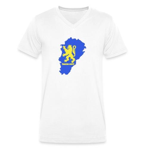 Carte Franche-Comté + lion - T-shirt bio col V Stanley & Stella Homme