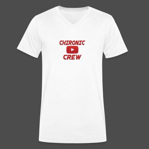 Chironic Crew Red - Mannen bio T-shirt met V-hals van Stanley & Stella