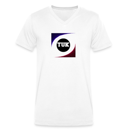 new stream and youtube logo - Men's Organic V-Neck T-Shirt by Stanley & Stella