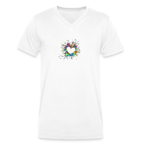 My heart explodes for you - Men's Organic V-Neck T-Shirt by Stanley & Stella