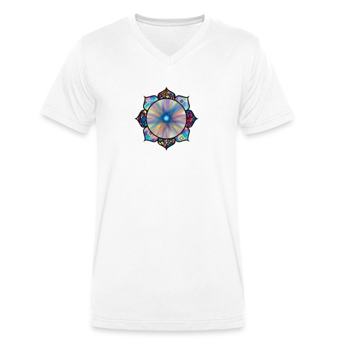 Buddha Flower - Men's Organic V-Neck T-Shirt by Stanley & Stella