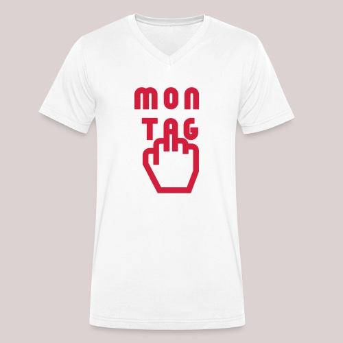 26-30 Lazy Montag - Männer Bio-T-Shirt mit V-Ausschnitt von Stanley & Stella