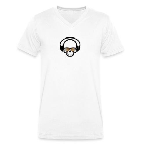 Skull Totenkopf Musik - Männer Bio-T-Shirt mit V-Ausschnitt von Stanley & Stella