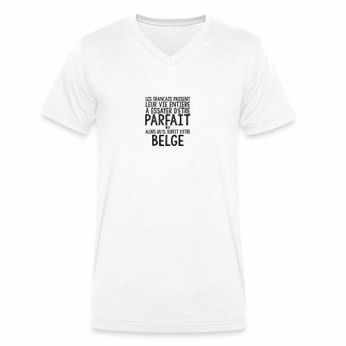 Les français passent leur vie entière a essayer - T-shirt bio col V Stanley & Stella Homme