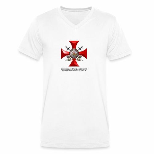 TEMPLARIOS. - Camiseta ecológica hombre con cuello de pico de Stanley & Stella
