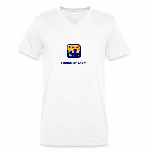 Raumagame logo - Stanley & Stellan miesten luomupikeepaita