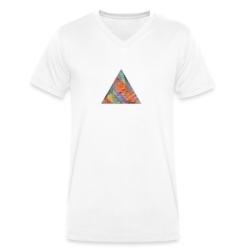 Triangle of twisted color - Men's Organic V-Neck T-Shirt by Stanley & Stella