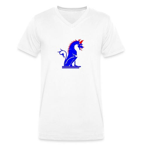 dragoviola - T-shirt ecologica da uomo con scollo a V di Stanley & Stella