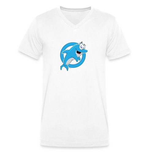 Dolphie - Men's Organic V-Neck T-Shirt by Stanley & Stella