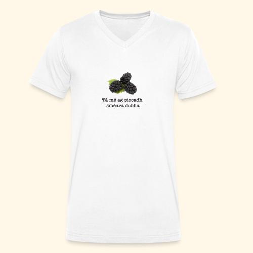 Picking blackberries - Men's Organic V-Neck T-Shirt by Stanley & Stella