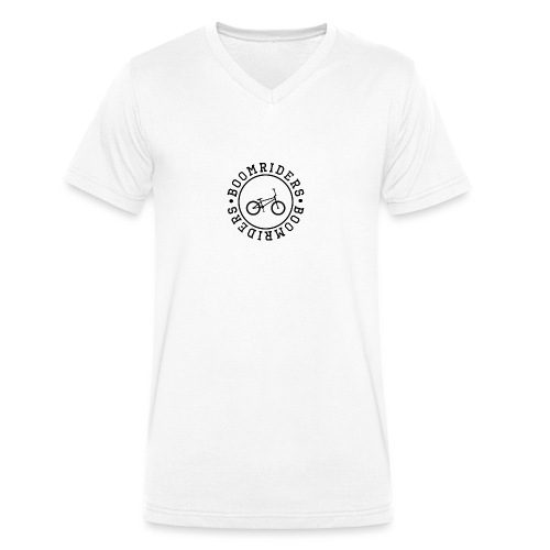 BOOM BIKE LOGO - Men's Organic V-Neck T-Shirt by Stanley & Stella