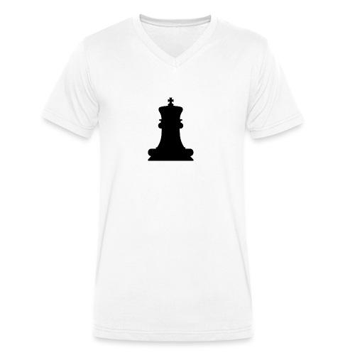 The Black King - Men's Organic V-Neck T-Shirt by Stanley & Stella