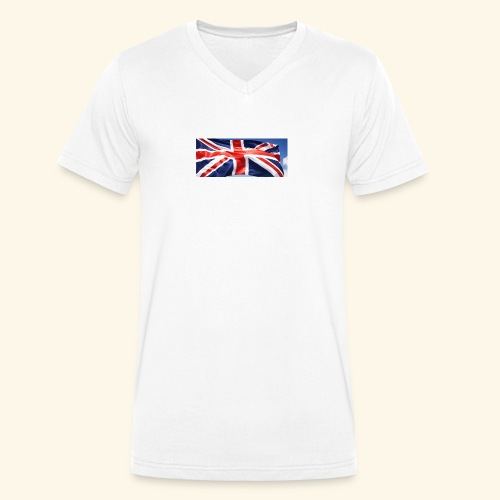 UK flag - Men's Organic V-Neck T-Shirt by Stanley & Stella
