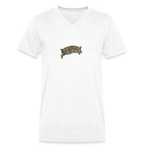 Time for a lucky jump - Men's Organic V-Neck T-Shirt by Stanley & Stella