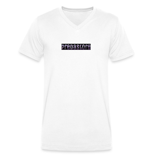 PredaStore Original Logo Design - Men's Organic V-Neck T-Shirt by Stanley & Stella