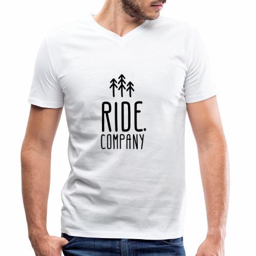 RIDE.company Logo - Männer Bio-T-Shirt mit V-Ausschnitt von Stanley & Stella