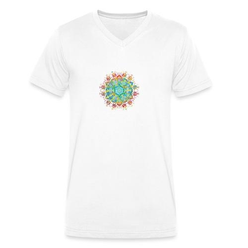 Flower Power - Men's Organic V-Neck T-Shirt by Stanley & Stella