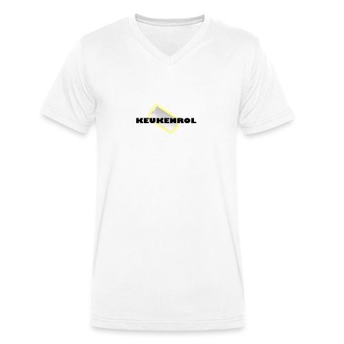 Keukenrol - Mannen bio T-shirt met V-hals van Stanley & Stella